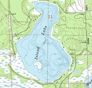 Topographical map ca. 1981